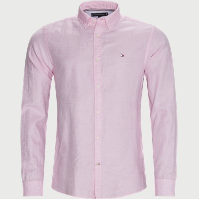 Cotton Linen Twill Shirt Regular | Cotton Linen Twill Shirt | Pink